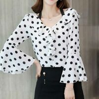 Women Top T-Shirt Loose Chiffon Summer Ladies Fashion Blouse Long Sleeve Shirt