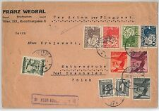BIRDS -- AUSTRIA  -  POSTAL HISTORY - AIRMAIL COVER to POLAND