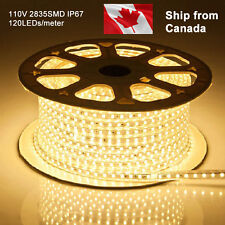 50m 2835 high power AC 110V 120V led light strip waterproof IP67 UL ETL +US plug