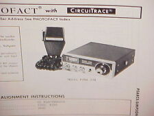 1975 PEARCE-SIMPSON CB RADIO SERVICE SHOP MANUAL MODEL PUMA 23B