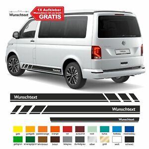 Seitenstreifen VW T6.1, T6, T5, Multivan, Bulli, Wunschtext Aufkleber, Seitenauf