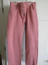 Vintage Levi 501 Pink Jeans Mens Straight Button Fly Red Tab MADE USA 29 28