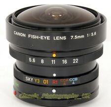 Canon FISH-Eye Lens 7.5mm 1:5.6 RARE!! Lens for Canon F-1 Canon A-1 & Micro 4/3