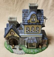 Partylite Olde World Village #1 Candle Shoppe Tealight Candle House Mint