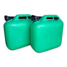 2 x 10 Liter Dieselkanister Benzinkanister UN-Zulassung grün inkl. Ausgießer NEU