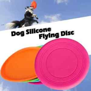 Dog Training Soft thin Frisbee Throwing,Flying Disc Fetch Silicone Teeth Fun Toy