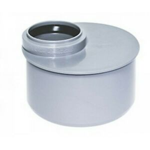4 Grey Push fit Waste Pipe Reducer 110mm x 50mm