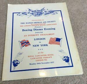 1977 London ABA Boxing Dinner Evening London v New York, early Terry Marsh etc