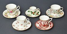 Sammlung 5 Mokkatassen Espressotassen + 5 Untertassen England u.a Minton Aynsley
