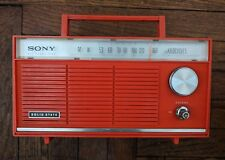 Vintage SONY Six Transistor Solid State Radio 8R - 42 JAPAN 1967 Red Rare WORKS!