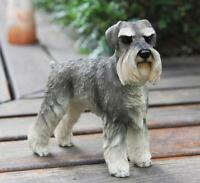 German Gray Schnauzer Hand Painted Resin Figurine Statue HOME simulation model