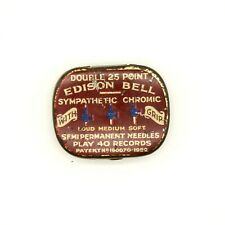 GRAMOPHONE NEEDLE TIN - Edison Bell Sympathetic Chromic Needles [NEEDLE TIN]