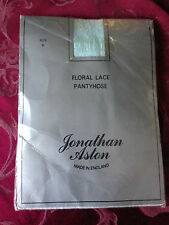 exciting! Vintage Jonathaon Aston floral lace pantyhose - size b