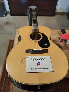 Vintage 1975 Epiphone  FT-130 Caballero Guitar + case and Owners Guide Looks New