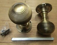1 pair Solid brass period mortice lever latch door knobs pull handles