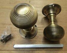 1 pair Solid brass period mortice lever latch door knobs pull handles