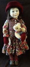 STUNNING! LYNNE & MICHAEL ROCHE DOLL MARY #26/200 W/ MOHAIR LTD. ED. TEDDY! ETC!