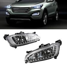 Car Daytime Running Light LED DRL Fog Lamp for Hyundai Grand Santa Fe ix45 2013