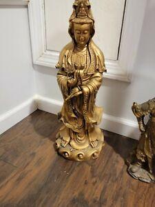 """19"""" Rosin Standing Tara Kwan-yin Guan yin Guanyin Bodhisattva Goddess Statue"""