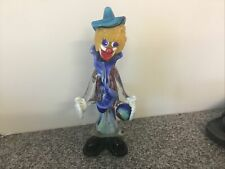 More details for murano glass clown with bowling ball a/f