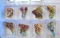 +++ 1 Stück: WISMUT Kristall, synthetisch +++ Bismuth Stufe Mineralien Sammlung