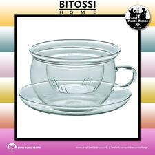 BITOSSI HOME. TEA TIME Tazza con piattino più filtro | Teacup saucer and filter