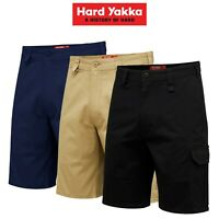 Mens Hard Yakka Core Work Aussie Tough Stretch Cargo Shorts Cotton Drill Y05067
