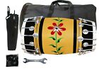 Indian Traditional Wooden Musical Instrument Nuts & Bolt Drum With Tools Kit