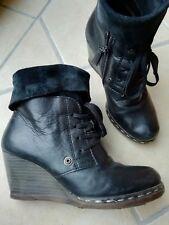 Mjus - Stiefelette Boots Keilabsatz Wedges 37 schwarz