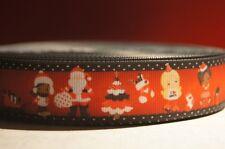 1152 Weihnachtsmotive auf Rot 25mm Breite