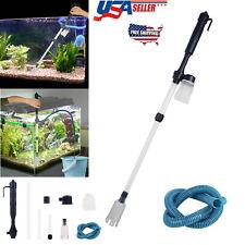Battery Powered Gravel Cleaner Aquarium Fish Tank Siphon Vacuum Water Change US