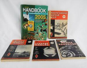 Lot of 5 Vintage Books ARRL Radio Ham Communications Mobile Tube