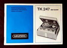 Grundig TK247 Deluxe Operating Instructions