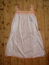 Vintage Babydoll 70er zartes, weißes Negligé mit Spitze aus PERLON Gr 40 / 42