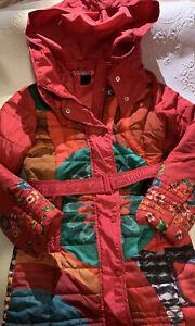 Excellent Condition Desigual Girls Multicolor Jacket Coat Size 7/8