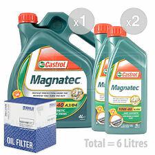 Engine Oil and Filter Service Kit 6 LITRES Castrol Magnatec 10w-40 6L