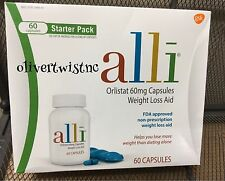 NEW ALLI ORLISTAT 60 CAPSULES 60MG FACTORY SEALED BOX EXP JANUARY 2019