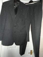 "Debenhams men`s grey pinstripe 2-piece suit chest size 38"" waist 32"""