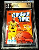 LEBRON JAMES 19-20 DONRUSS CRUNCH TIME PRESS PROOF PARALLEL BGS SSP 9.5 POP 1/1
