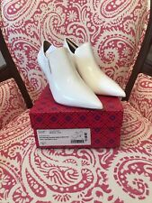 TORY BURCH 50575 GEORGINA ANKLE BOOTS White Women's Sz 9