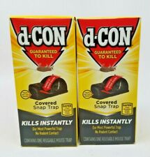 d-CON Reusable Covered Mouse Snap Trap, 1 Trap (Pack of 2)