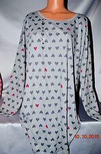 Victorias Secret HEARTS Night Gown Sleepshirt Pajama Pajamas NWT XS