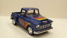 1955 Chevy Stepside pick-up blu kinsmart modello giocattolo 1/32 scala