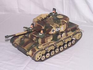 Ultimate Soldier 1/18 WWII German Panzer Tank(camo) w/3 Man Crew
