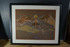 Original Oil Pastel by Tatiana Potts - Pelican done in 2007 - Framed under Glass
