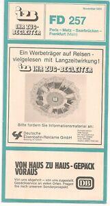 Ihr Zugbegleiter (IZB - DB) FD 257, Paris - Frankfurt, November 1983