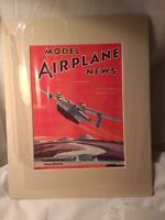 UNIVERSAL MODEL AIRPLANE NEWS matted cover art only patrol bomb September 1939 G