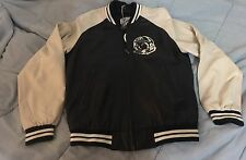 Billionaire Boys Club Men's Astro Leather Varsity Jacket Navy Large