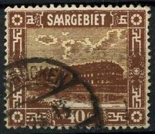 Saar 1922 SG#91, 40c Pottery Mettlach Used #D14724