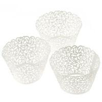 100 Filigree Little Vine Lace Laser Cut Cupcake Wrapper Liner Baking Cup Tide